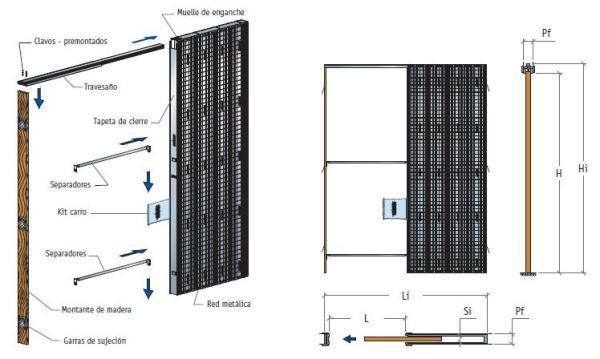 Premarco puerta corredera revoco 60x203x9 scrigno - Medidas de puertas correderas ...
