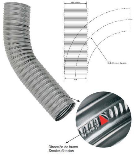 Ml tubo flexible aluminio 200 extensible westaflex - Tubo flexible aluminio ...