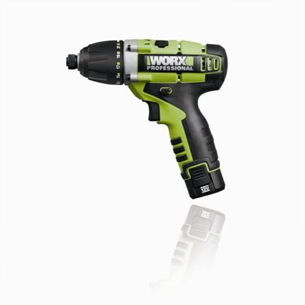 Atornillador wu288 impacto 12v li on worx for Cocinar 12v