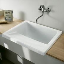 Lavadero porcelana riba 75 blanco unisan for Lavadero porcelana