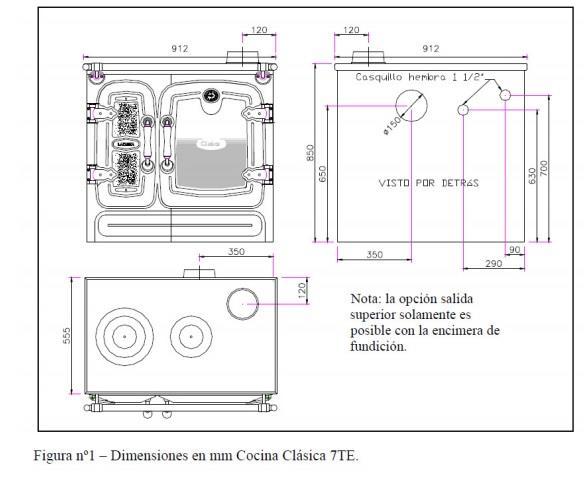 Cocina cl sica 7te calefactora lacunza for Cocina calefactora lacunza