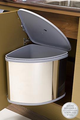 Cubo basura autom tico inoxidable 25 litros filinox - Cubos de basura industriales ...